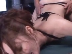 Erotic Asian milf Kaede Fuyutsuki in mmf sex action
