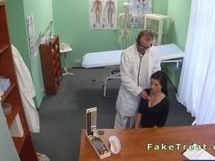 Doctor fucks beautiful busty patient in an office