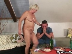 This Chab finds his GF's mommy bare and copulates her