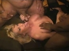 Fake Tit Doxy Muriel: Interracial Group Sex