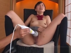 Sexy natural tits Saori Maeda loves to try new sex toys