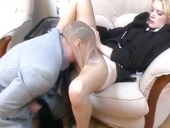 Pantyhose Fetish With Hot Russian Blonde