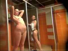 Spying Amateur girls in a public shower