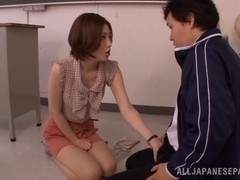 Horny Ai Haneda gives amazing oral stimulation