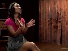 Ebony Slut is Tormented and Machine Fucked