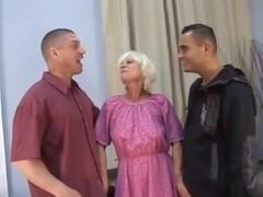 2 studs fucking blond granny