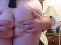 undressing wifes large soft white a-hole, giving a kiss her brests