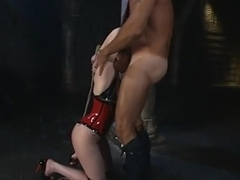 Hot James Deen fucks chocolate skinned lady with big ass Nyomi Banxx in the office