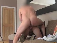 FakeAgentUK: Amateur MILF casting deep throat wet pussy heavy cumshot