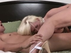 Kaylee Brookshire gives a blowjob and rides hard rod
