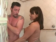 Gorgeous Ava Devine gets nasty under the shower
