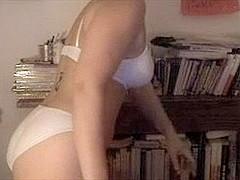 Amateur Web Camera - Black Brown Disrobes Down To Panties