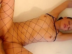 Dilettante In Hawt Outfit And Hands Fastened Acquires Drilled And Came On