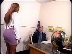 Ebony dominating white boy-friend