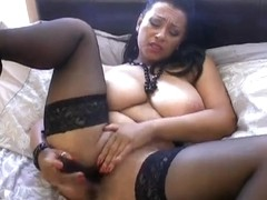 British mother I'd like to fuck Danica plays with herself on the daybed