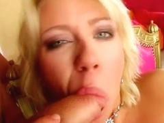 This cute blonde is horny and wants some anal sex.