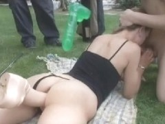 Horny blonde lets Jimmy fuck her in the ass in sex film