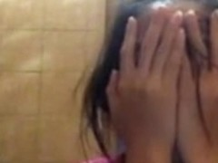 Philippine girl toilet strip tease