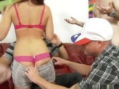 Mia Gold in University Gangbang #12, Scene #03