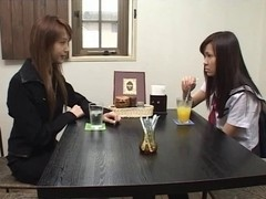 Japanese Lesbian Babes (We get to tame the recent teacher)SM