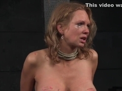 Busty sub milf crucified and pussytoyed
