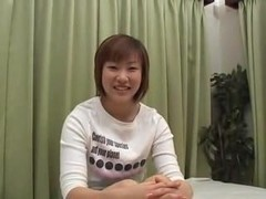 Japanese angel in porn business try-out