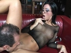 He uses her hole to give himself some pleasure