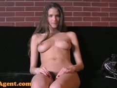 FakeAgent HD: Brunette with amazing natural tits