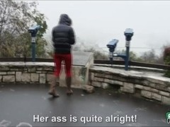 Pretty babe Aruna Aghora is spotted by dude at the park and gets fucked