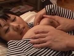 Reiko Nakamori big boobs titty-fucking and pussy pounding