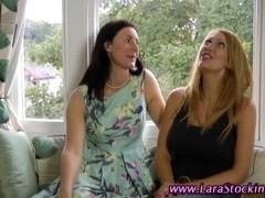 Milf stocking lesbos oral