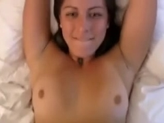 College gorgeous girlfriend in worthy non-professional missionary style sex