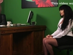 Office domina watching