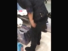 Black thong while shopping