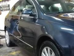 At the car wash .