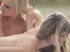 Beauties Bella Baby and Gina have outdoor threesome