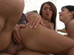 Blonde gives amazing deepthroat action