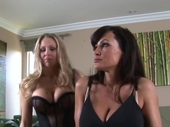 Best pornstars Julia Ann and Lisa Ann in incredible lesbian, big tits porn scene
