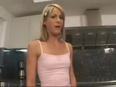 Courtney simpson babysitter drilled in kitchen