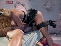 Nasty experimentalist Cherie Deville mounts Johnny Sins