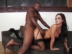 Distinctive milf in lingerie Jada Stevens loves dark meat and anal sex