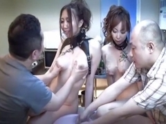 Fabulous Japanese model Ruka Ichinose, Minami Kitagawa in Exotic Fetish, Group Sex JAV clip