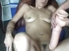 stuffing giant dildo in my hotty