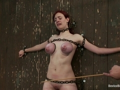 Iona Grace in Gorgeous All Natural 19 Year Old Newbie Chained to the Wall - DeviceBondage