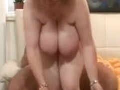 Chubby granny fucks young stud and gets creamed