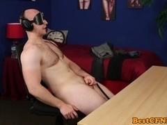 Catching blindfolded wanker