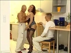 German housewifes and 2 studs