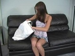Brooke Skye smell obscene pants on Ottoman