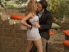 Italian pornstar Nadia Macri gets a mouthful of semen