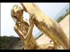 Japanese gold bodypaint sex